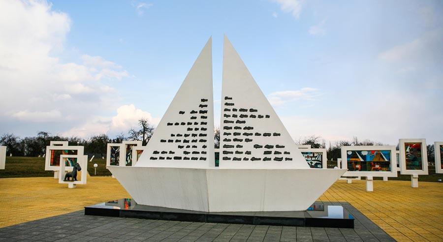 Памятники в Жлобинском районе: мемориальный комплекс в деревне Красный Берег
