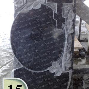 Памятник крест розы зеркало №15