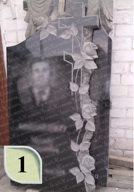 Памятник крест в розах №1