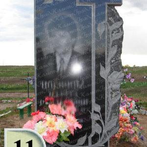 Памятник крест в розах №11