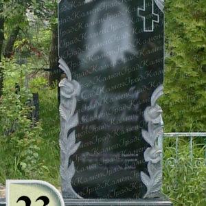 Памятник крест в розах №23