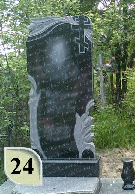 Памятник крест в розах №24