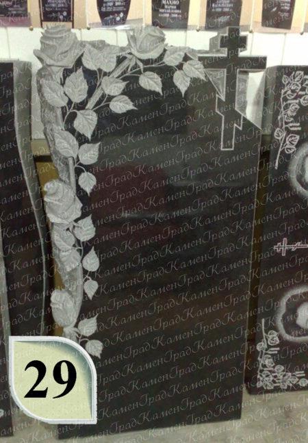 Памятник крест в розах №29