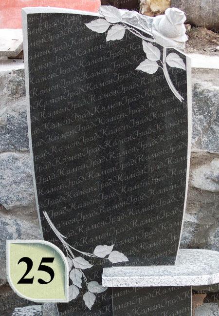 Памятник роза сверху №25