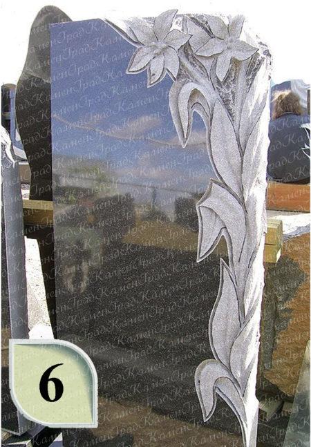 Памятник с лилиями № 6