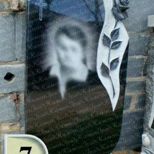 Памятник с полированной розой №7