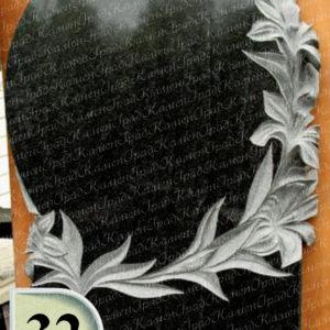 Памятник зеркало в лилиях №32
