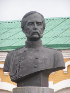 Памятники в Добруше: бюст князя Паскевича