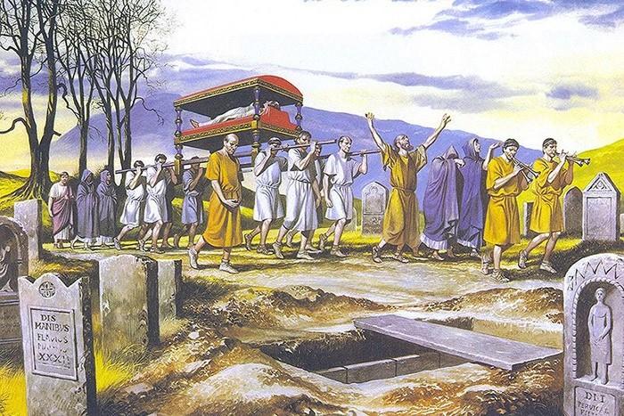 Похороны в Древнем Риме: запрет на плачь и повторную церемонию
